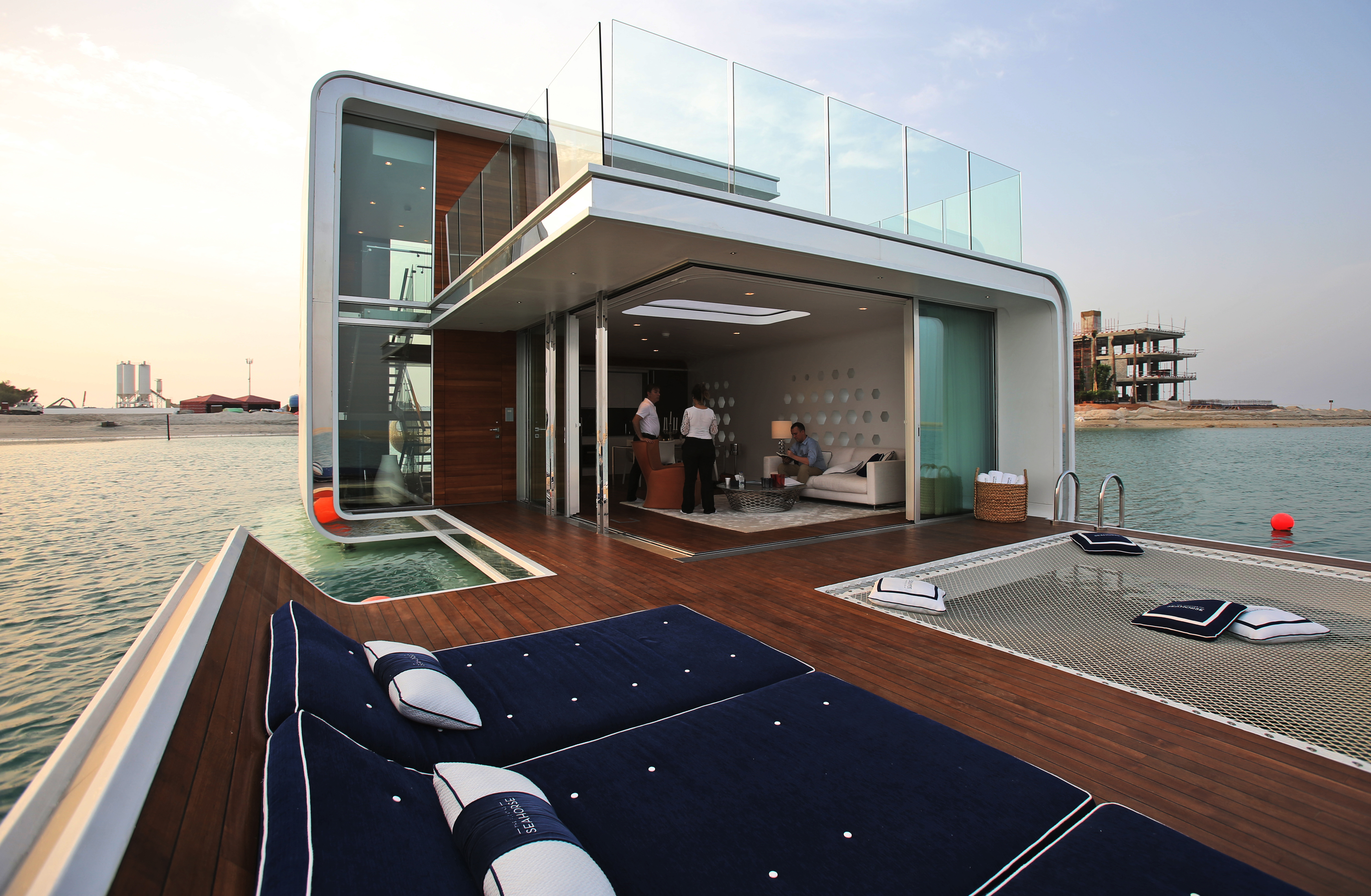uae's first 'floating home' arrives on dubai canal