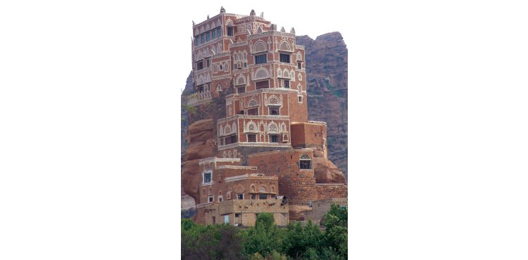 Wadi Dhaher, Sana'a – A fertile wadi 15km north of Sana'a with a small village, famous for its grapes, pomegranates and nuts. The five story palace on the rocky mountain was the residence of Imam Yahya before the revolution.