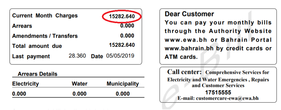 Bahrain: High Electricity & Water Bills Due To Technical Glitch
