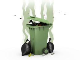 Shortage of garbage containers