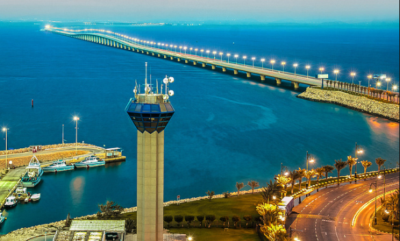 King Fahd Causeway capacity increased by 45% ahead of re ... |King Fahd Causeway Curvature